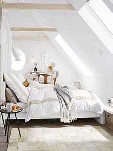 Unterm dach schlafzimmer mit schr gen einrichten for Schlafzimmer einrichten mit dachschrägen