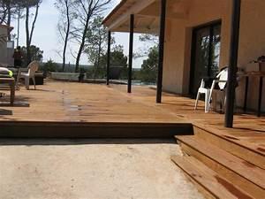nivremcom pose terrasse bois exterieur diverses idees With idee deco maison neuve 10 amenagement dune terrasse en bois composite gris