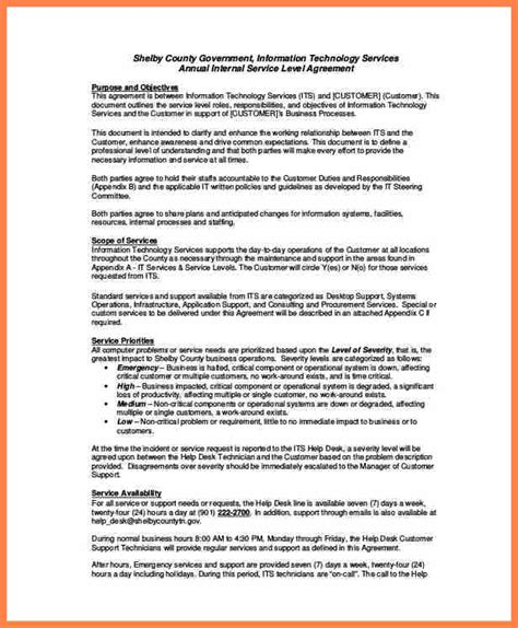 desk service level agreement template purchase