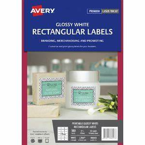 avery With avery glossy white round labels
