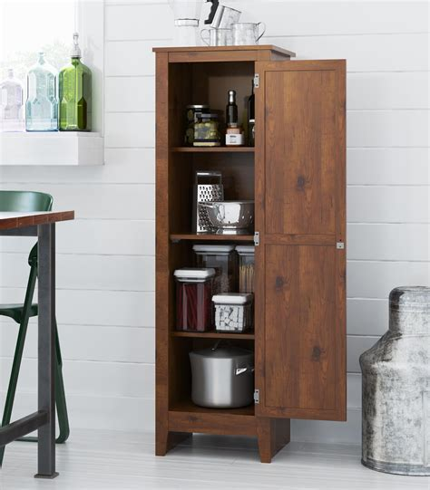 Storage Pantry Cabinets Furniture Rustic Single Door Storage Pantry Cabinet Organizer