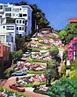 Lombard Street - San Francisco, California Painting by ...