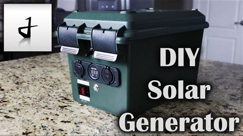 diy portable solar generator youtube