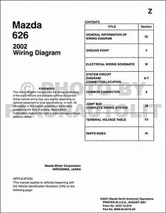 Mazda 626 Wiring Diagram Manual Original