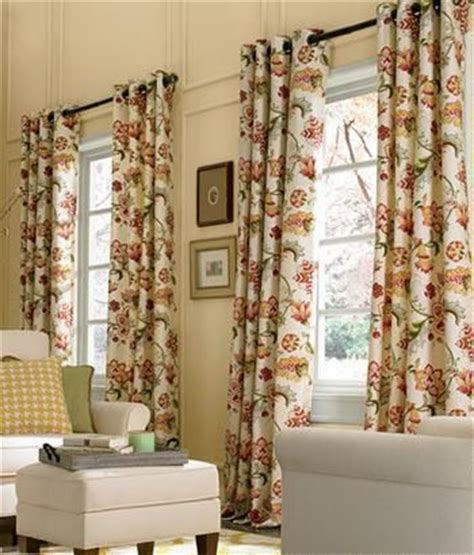 jacobean floral lined grommet top curtains 17 best images about cornice ideas on window