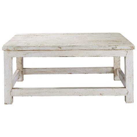 table basse en manguier blanc vieilli l 90 cm avignon maisons du monde