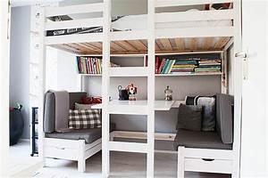 Hochbett Mit Tisch : kleines kinderzimmer mit hoch oder etagenbett einrichten freshouse ~ Markanthonyermac.com Haus und Dekorationen