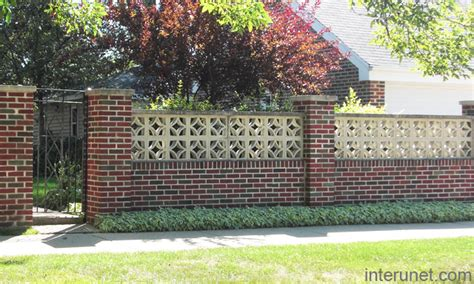 brick fence designs stylish brick fence with gates picture interunet