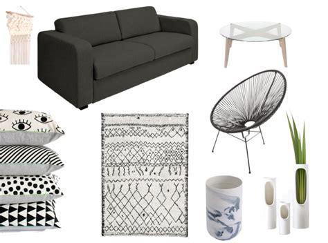 salon gris  blanc blog decoration dinterieur clem