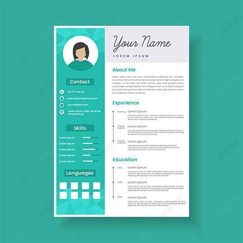 feminine resume template design stylish cv set  women