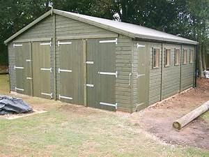 double wooden garage 20x20 With 20x20 garage kit