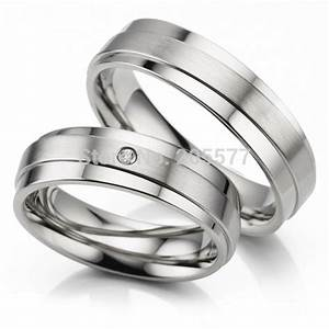 anel de prata white gold color his and hers rings handmade With titanium wedding rings his and hers