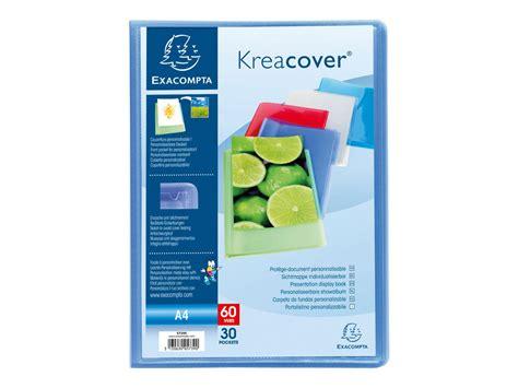 bureau c discount exacompta kreacover porte vues personnalisable 80 vues