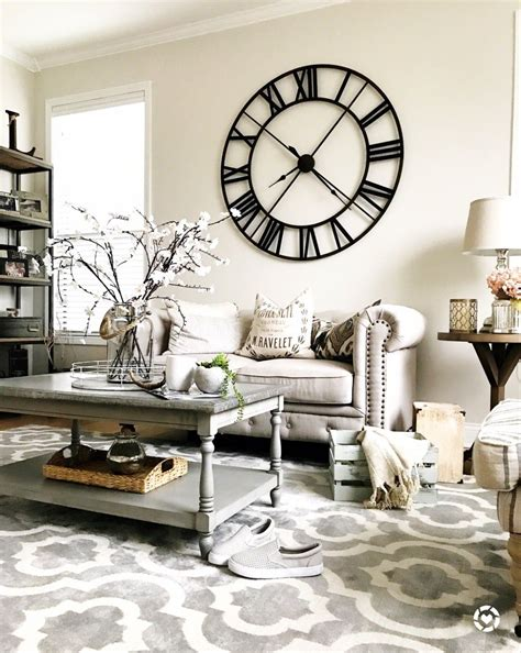 Country Living Room Clocks by Rustic Living Room Large Wall Clock Living Rooms