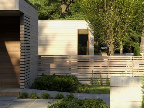 Mid Century Modern Kitchen Remodel Ideas - modern wood fence exterior contemporary with horizontal slat fence wood fencing wood fencing