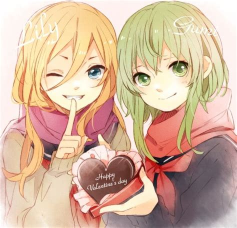 Valentines Day Anime Wallpaper - anime valentines day vocaloid gumi and anime st