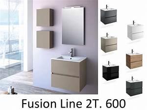 Meuble Tiroir Salle De Bain : meubles lave mains robinetteries meuble sdb meuble de salle de bain 60 cm fussion line 600 ~ Teatrodelosmanantiales.com Idées de Décoration
