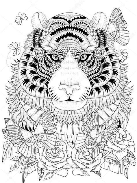 Kleurplaat Volwassenen Tijger volwassen kleurplaten tijger archidev beste kleurplaat