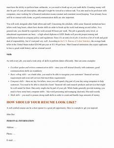 how to write a great bank teller resume with sample With how to make an outstanding resume