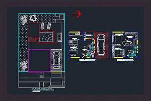 Small Apartment with Garage 2D DWG Plan for AutoCAD