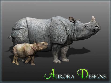 indian rhino mods zoo tycoon zt2 aurora rhinoceros designs rhinos credits endorsements wikia