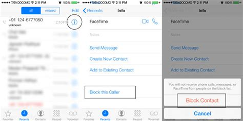 how to view blocked numbers on iphone how to block calls and messages on iphone running ios 7