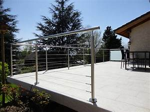 garde corps inox sur terrasses et balcons erminox With garde corps terrasse inox