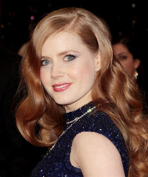 amy adams long wavy light red hairstyle
