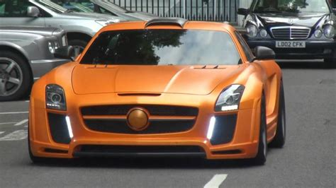 orange mercedes orange mercedes fab design sls amg in london youtube