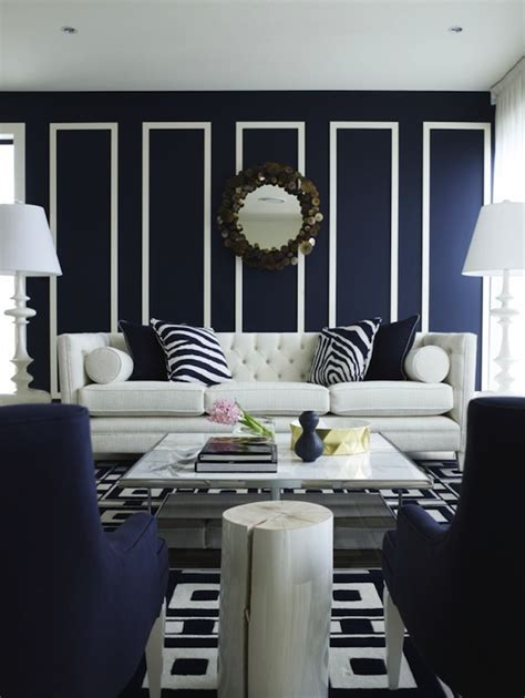 Navy Living Room contemporary navy blue living room design