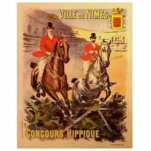 French Belle Époque Period Poster for a Horse Show in ...