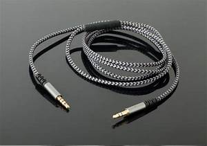 Jack 3 5 Mm With Mic Cable Gold Plated Braided Wire 3 Pole