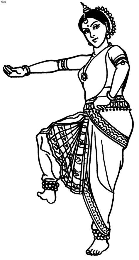 Great website with TONS of Indian folk dance coloring pages. | Indian/Bollywood Party Theme