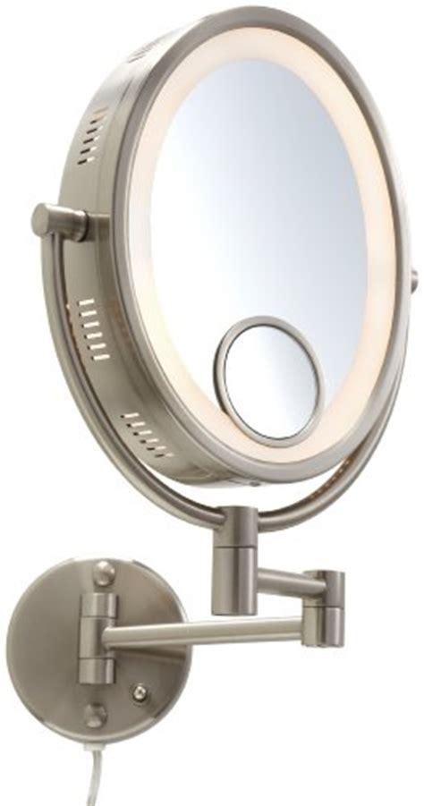 jerdon hl9515n light wall mount mirror with spot mirror