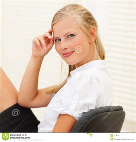 Royalty Free Stock Photography: Beautiful woman business woman at work. Image: 10745027