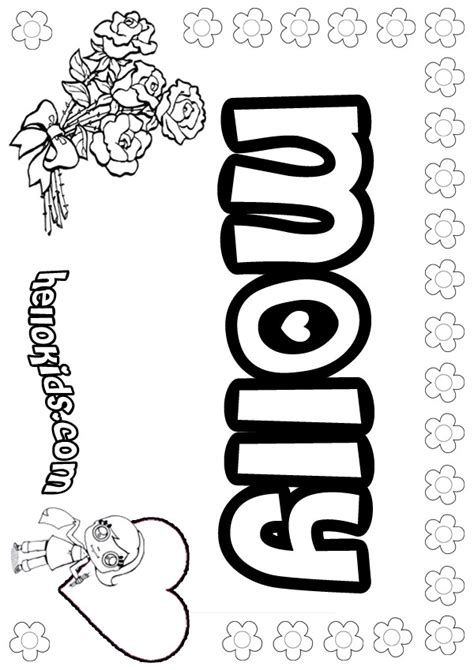 what color is molly molly coloring pages hellokids