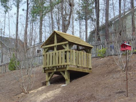 Backyard Forts by Backyard Playground Crafted Wooden Playsets Swing