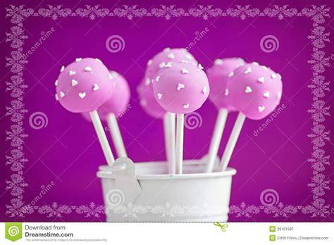 purple cake pops royalty  stock photography image