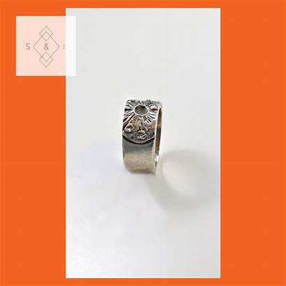 Ring Bronze Solid Rings Signet Sculpted Handmade