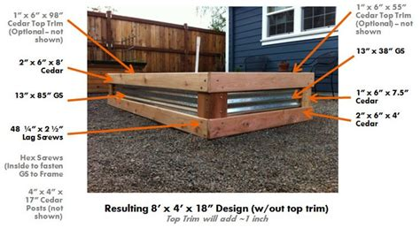 raised garden bed using galvanized steel for a pretty look