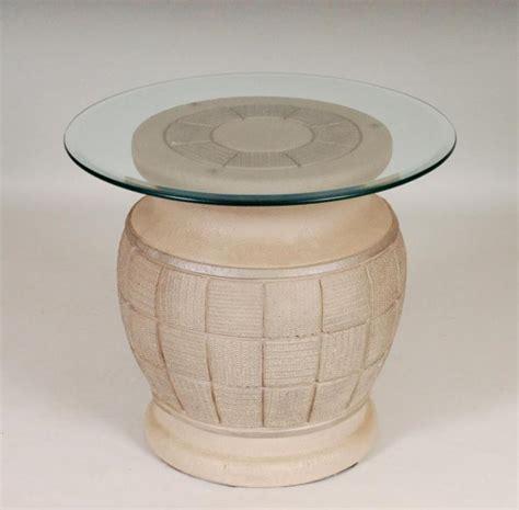 ceramic base table ls ceramic table base w glass top