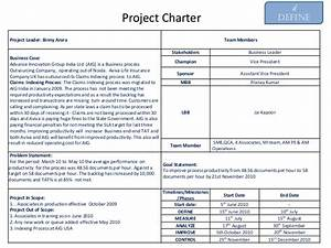 project charter six sigma images With six sigma black belt project template