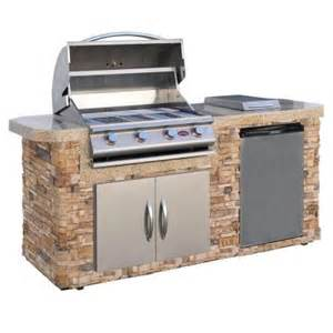 kitchen islands at home depot cal 7 ft grill island with 4 burner stainless steel propane gas grill lbk701s o