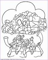 Coloring Joshua Jericho Battle Caleb Fought Bible Biblewise Korner Sunday Walls Crafts Preschool Popular Church Guardado Desde Kleurplaten Bijbelse sketch template
