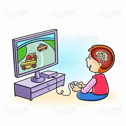 Addiction Illustration Vector Symptoms Games Playing Children