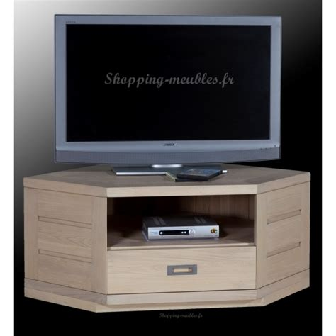 bureau chene blanchi meuble tv hifi d 39 angle en chêne massif hossegor