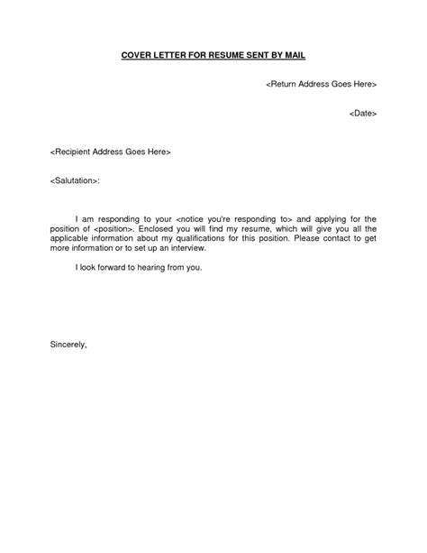 How To Sign A Cover Letter On Word by Basic Cover Letters For Resumes General Letter Resume