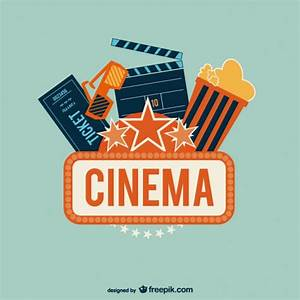 Cinema logo with popcorn Vector | Free Download