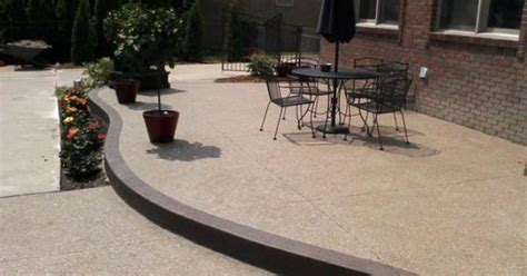 raised concrete patio cost exposed aggregate patio raised exposed aggregate