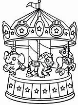 Coloring Carnival Pages Carousel Circus Wheel Printable Ferris Sheets Rides Animals Bumper Animal Cars Costume Riders Colouring Fair Ride Tent sketch template